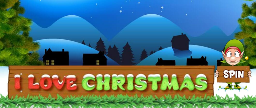 I Love Christmas online slots game logo