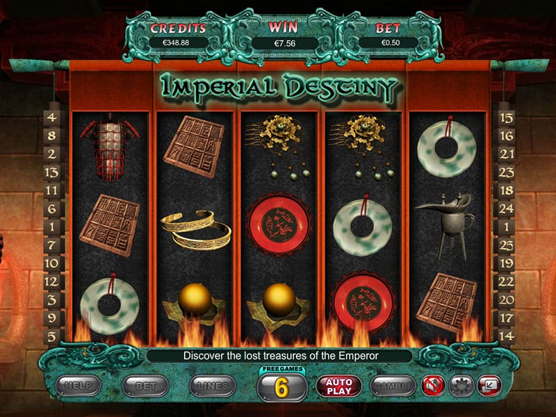 imperial destiny slots gameplay