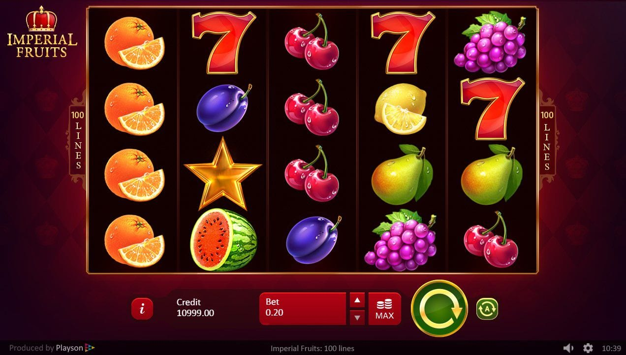 Imperial Fruits 100 Lines Slot Gameplay
