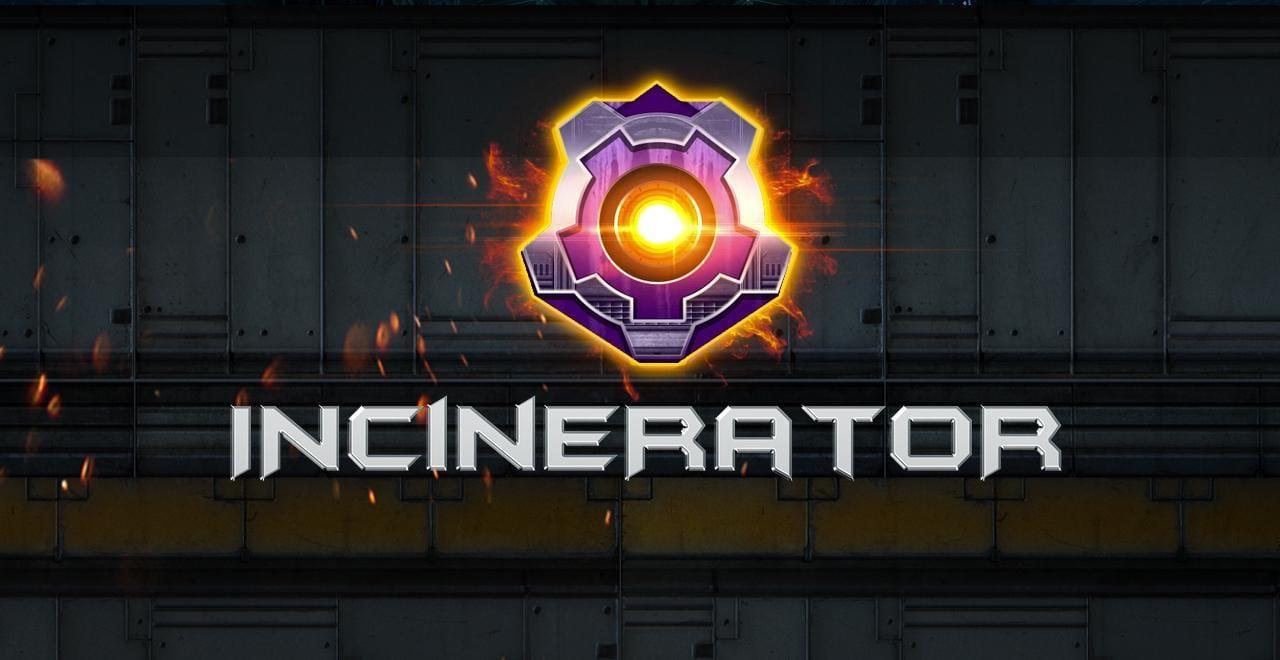 Incinerator online slots game logo