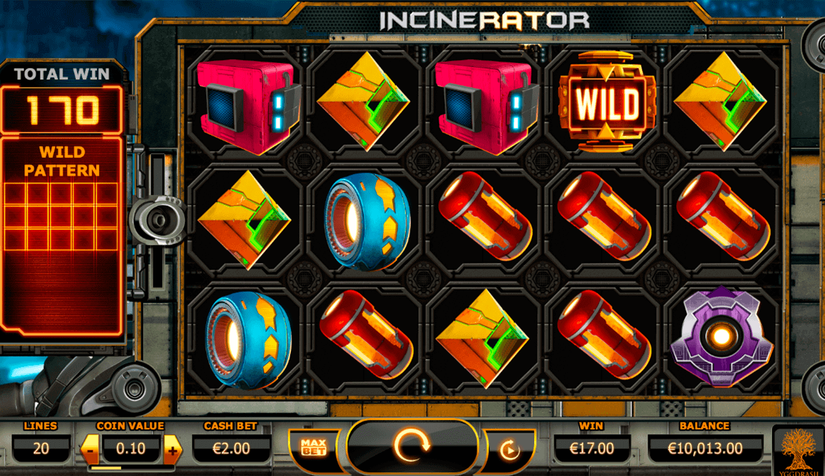 Incinerator Online slots game gameplay