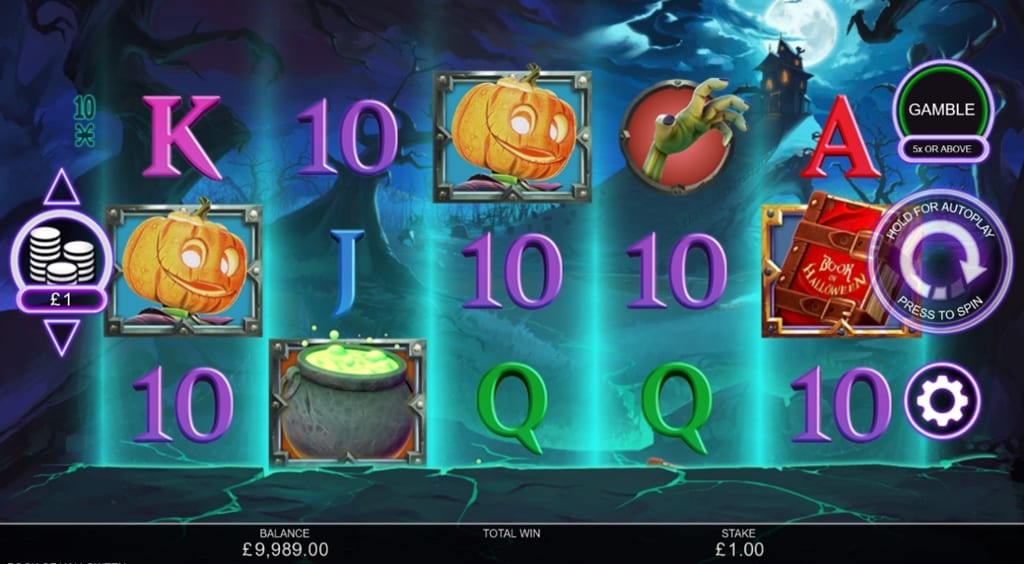 Book of Halloween Slot gameplay