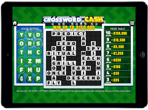Crosswords Cash online slots game gameplay