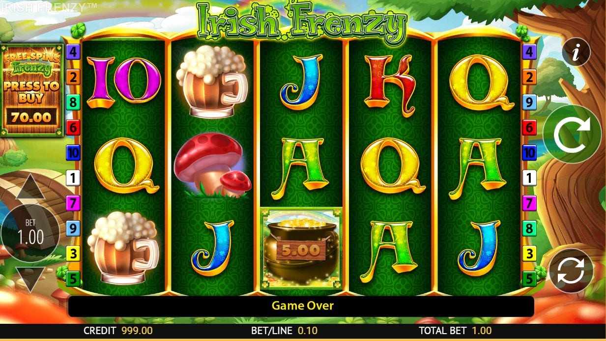 Irish Frenzy Casino Gameplay