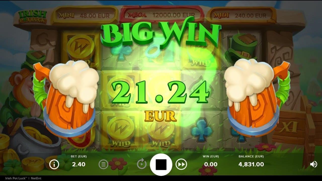 Irish Pot Luck Slots Reels