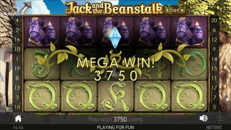 Jack and the Beanstalk Slots Win