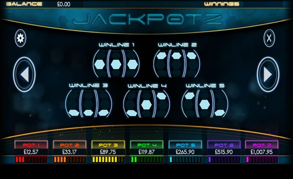 jackpotz paytable