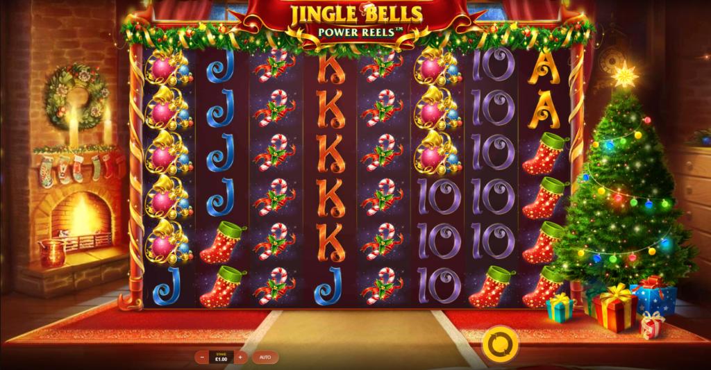 Jingle Bells Power Reels Slot Gameplay