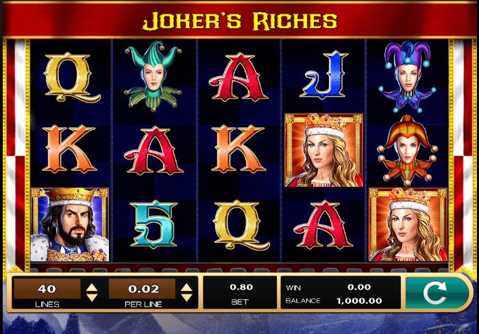 Joker's Riches Slot Game