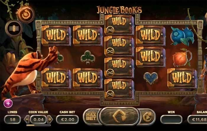 Jungle Books online slots game paytable