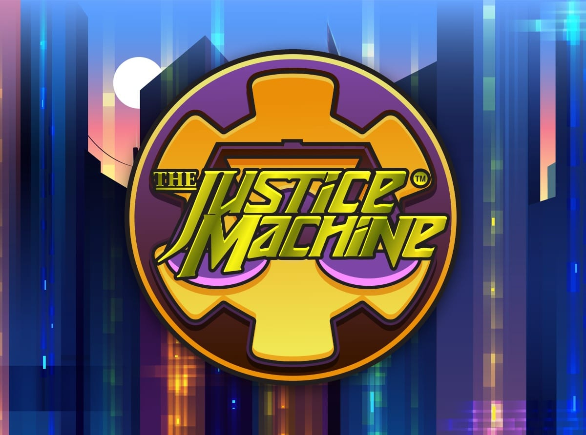 justice machine slots game logo