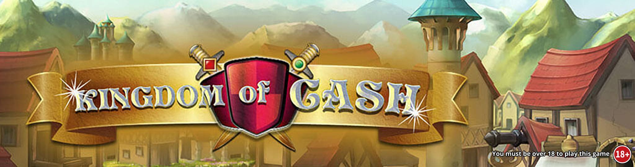 Kingdom of Cash Jackpot Slots game logo