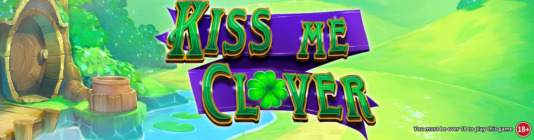 kiss me clover slots game logo