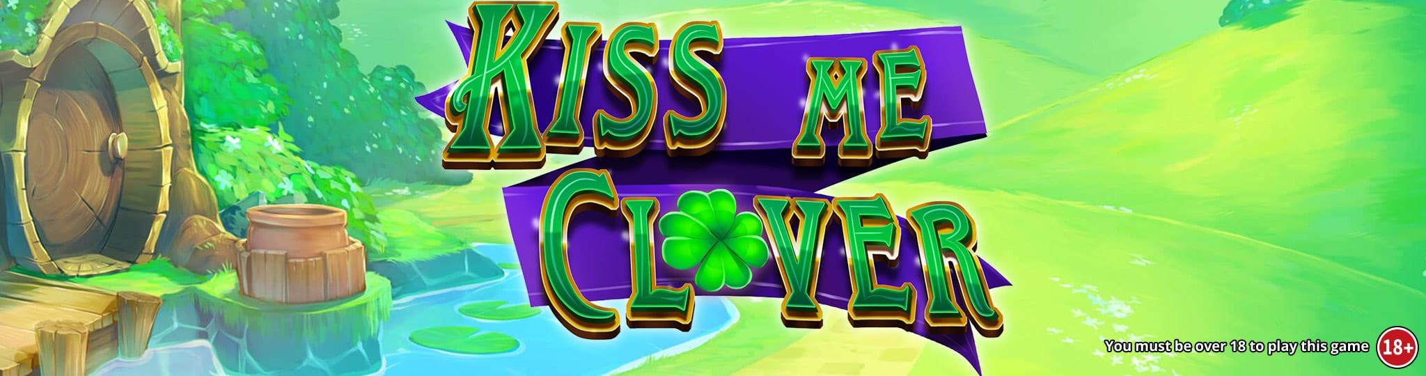 kiss me clover slots game logo