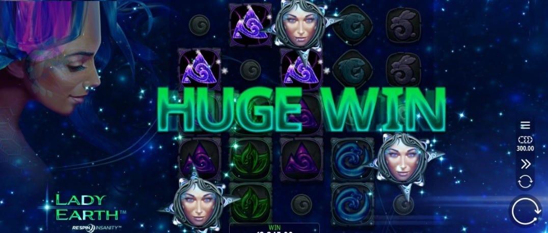 Lady Earth Slots Win