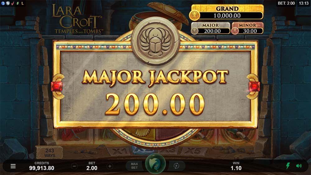 Lara Croft: Temples and Tombs Slots Jackpot