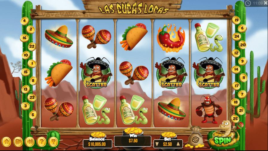 Las Cucas Locas slots gameplay