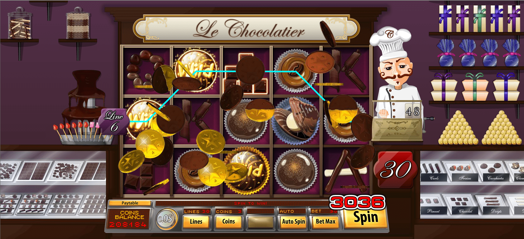 Le Chocolatier Slot Game