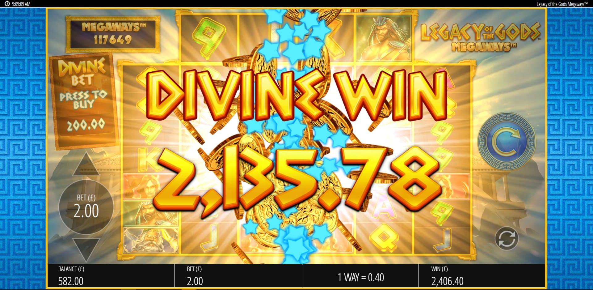 Legacy of the Gods Megaways Slot Big Win