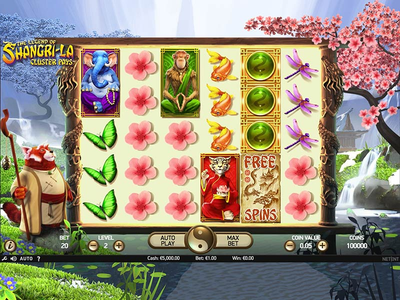 The Legend of Shangri-La online slots game gameplay