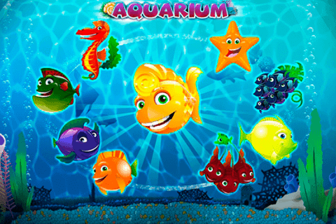 Aquarium slots game logo