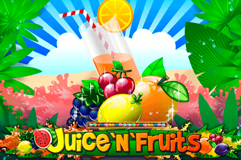 Juice n fruits online slots game logo