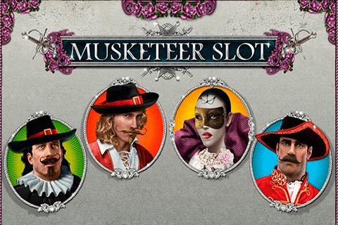 Musketeer online slots game logo