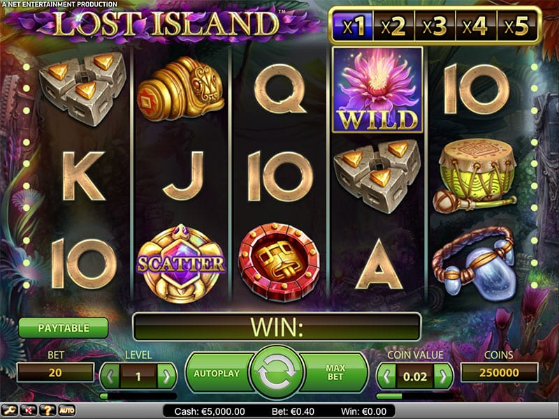 Lost Island Slots gameplay