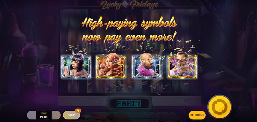 Lucky Fridays Slot Features