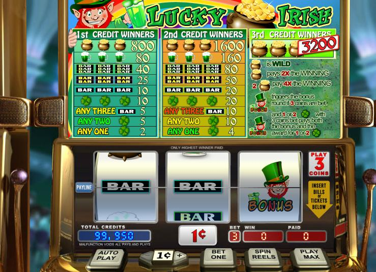 Lucky Irish game screen