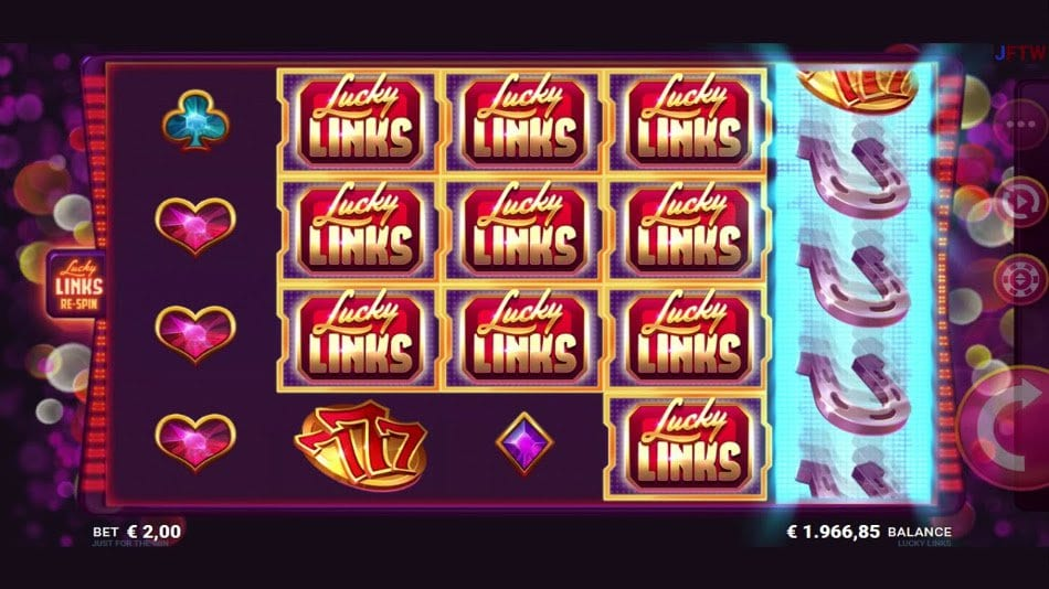 Lucky Links online slots game gameplay
