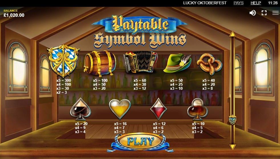 Lucky Oktoberfest Slot Symbols