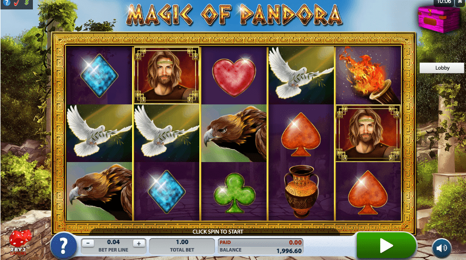 magic of pandora slots Online