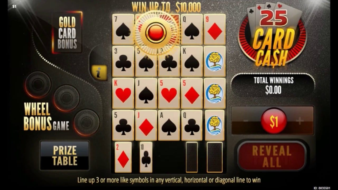 25 Card Cash Gameplay