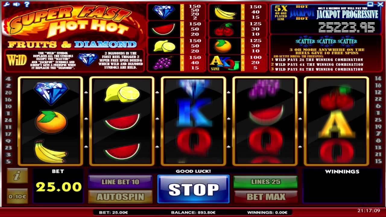 Super Fast Hot Hot online slots game gameplay