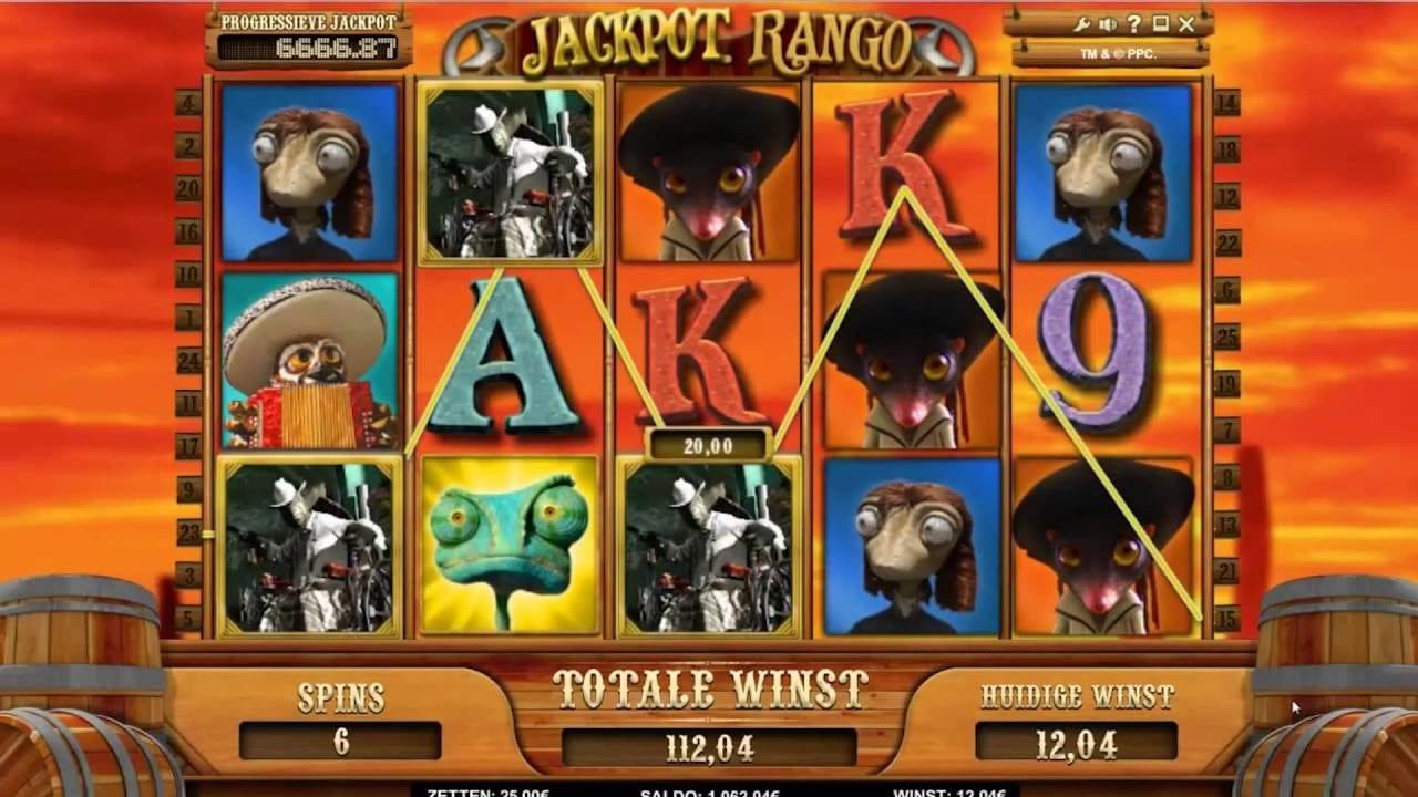 Jackpot Rango online slots game win lines