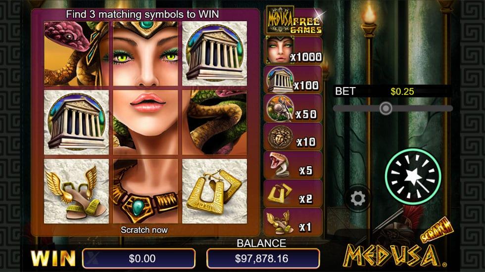 Scratch Medusa Casino Game