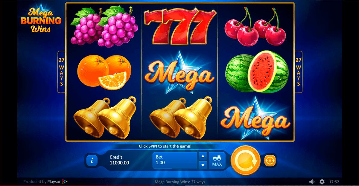 Mega Burning Wins Slot Game