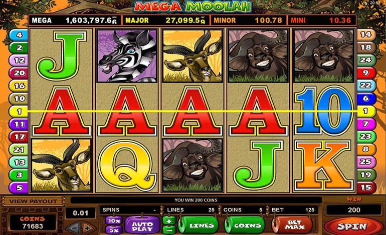 Mega Moolah Slots Wizard Slots
