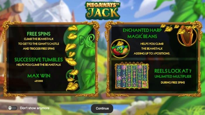 Megaways Jack Slots Features