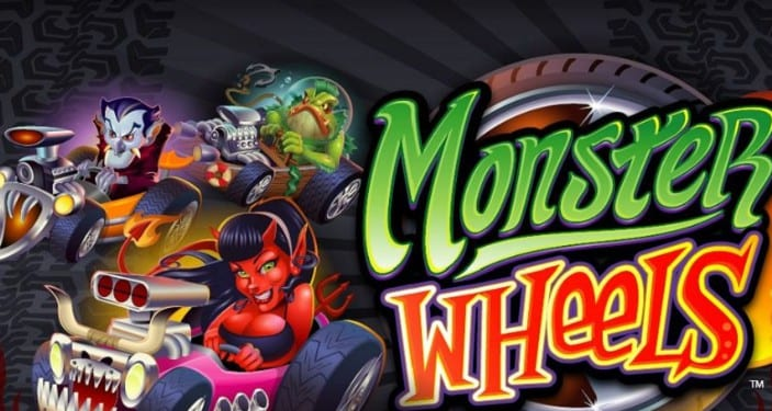 Monster Wheels online slots game logo