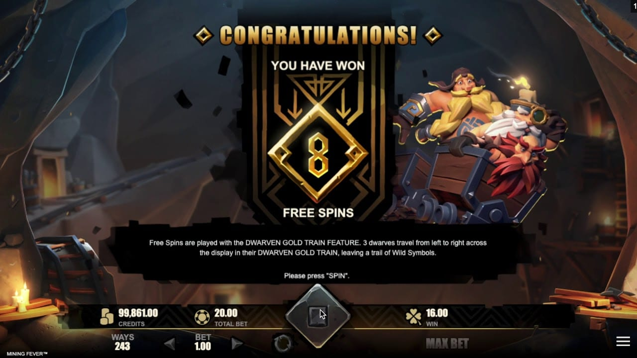 Mining Fever Free Spin Slot