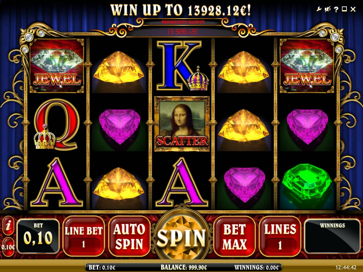 Mona Lisa Jewels online slots game gameplay