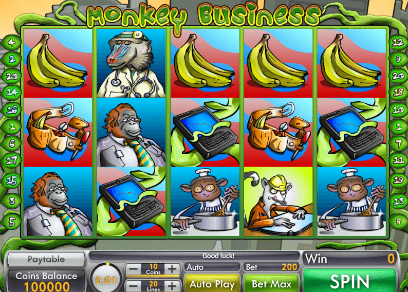 Monkey Business Slot Game