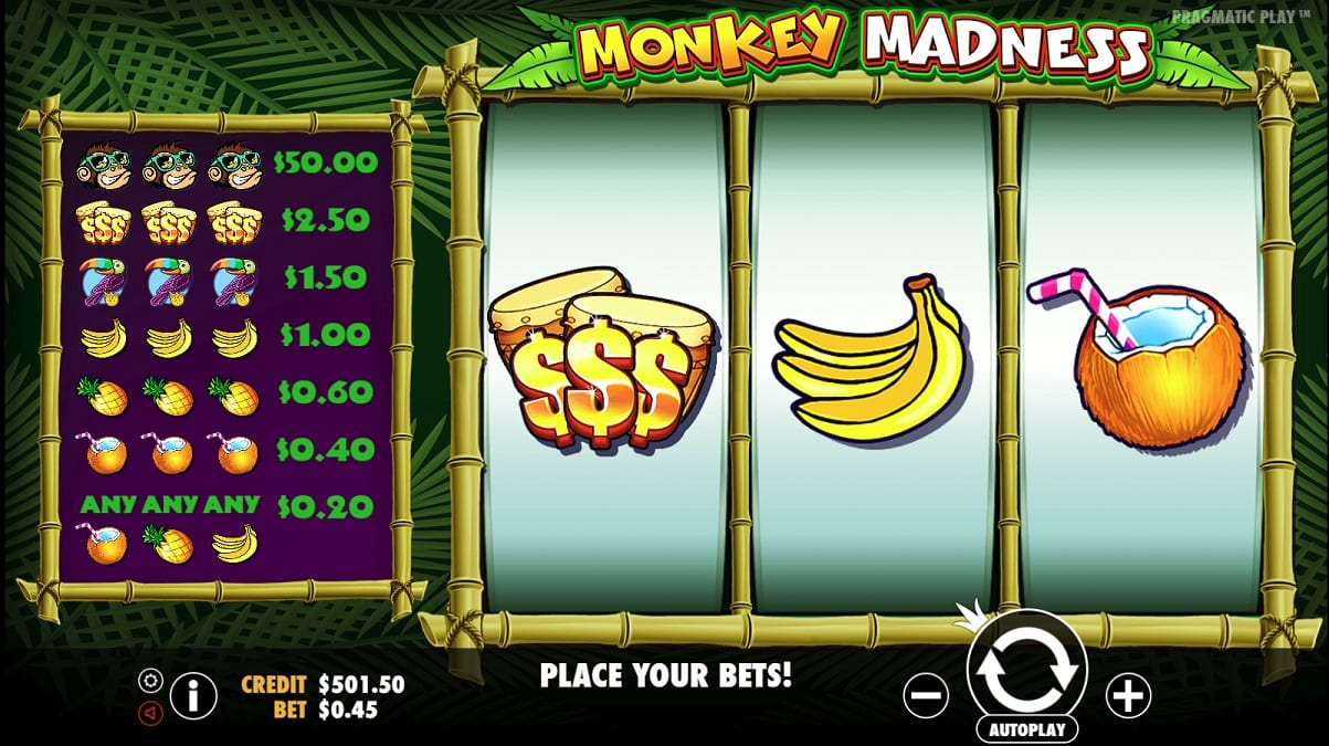 monkey madness slots gameplay