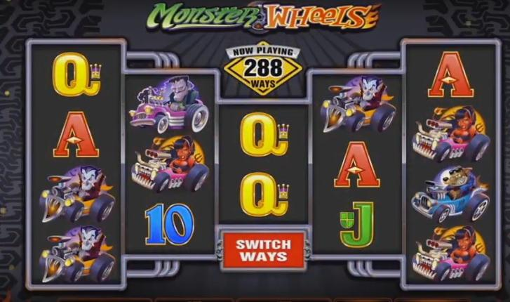 Monster Wheels online slots game gameplay