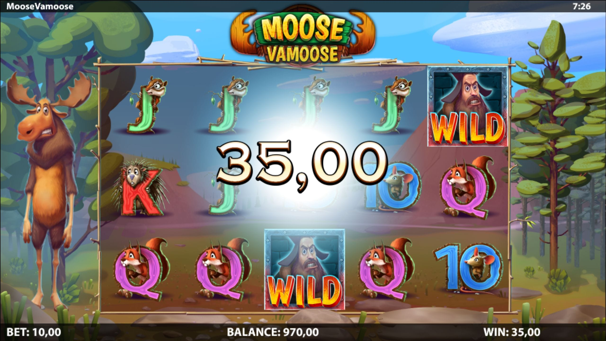 Moose Vamoose Slot Game win