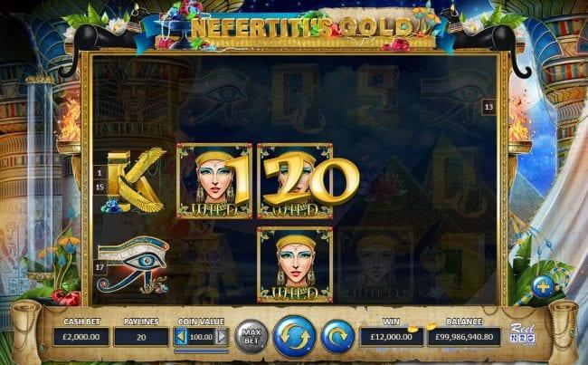 Nefertiti's Gold Slots UK