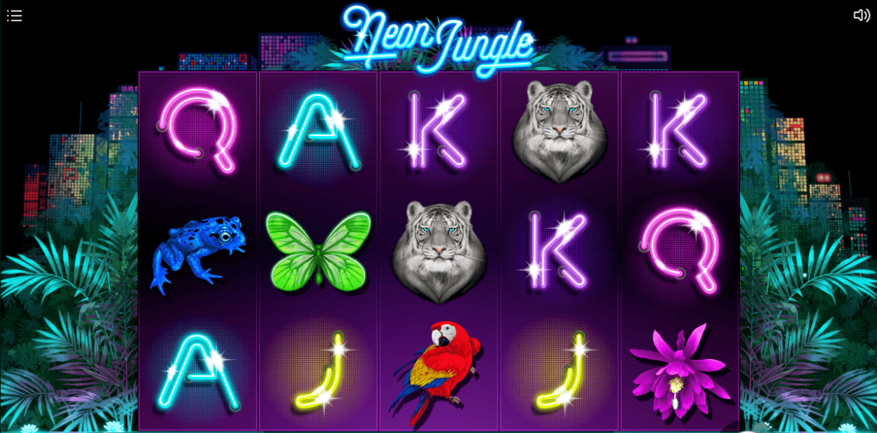 Neon Jungle slots game gameplay