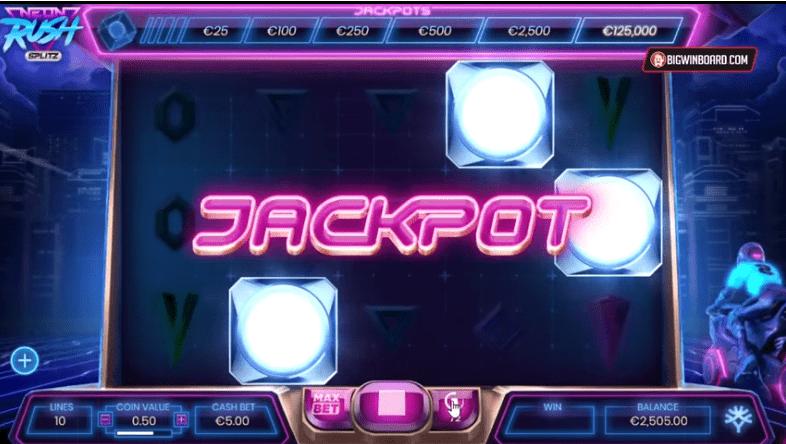Neon Rush Jackpot Slots
